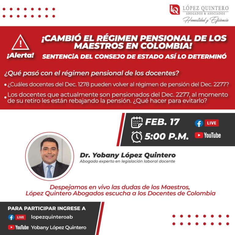 ¡CAMBIÓ EL RÉGIMEN PENSIONAL DE LOS MAESTROS EN COLOMBIA!